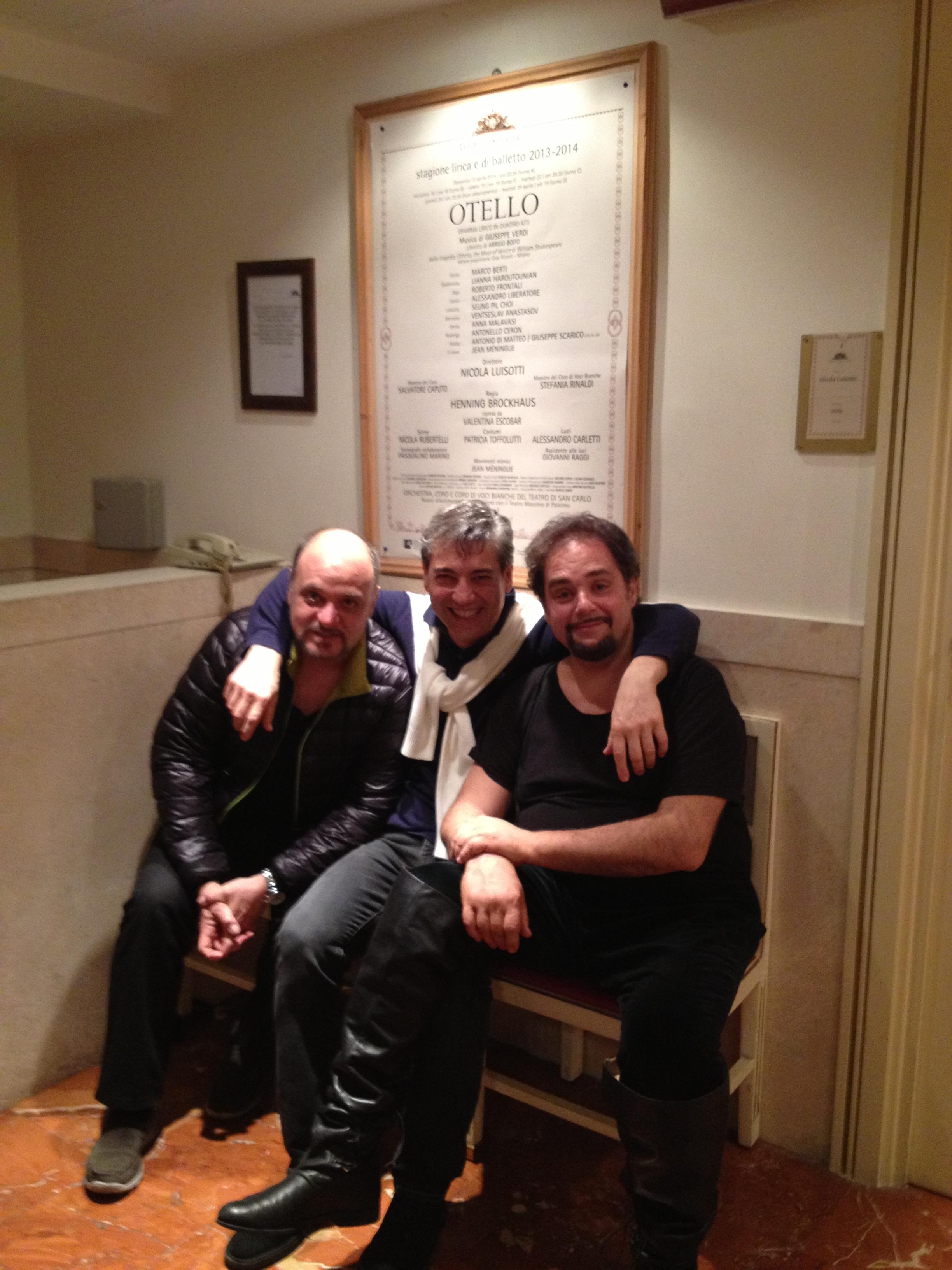 Roberto Frontali con Nicola Luisotti e Marco Berti