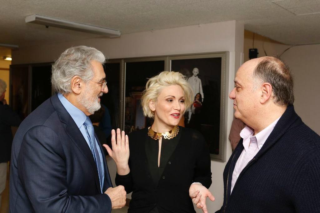Roberto Frontali con Placido Domingo e Carmen Giannattasio